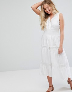Платье миди Anmol Prairie - Белый
