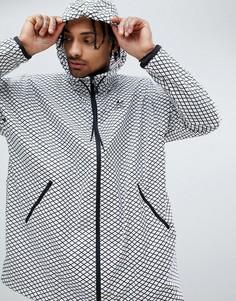 Белая oversize-ветровка adidas Originals PLGN CW5102 - Белый