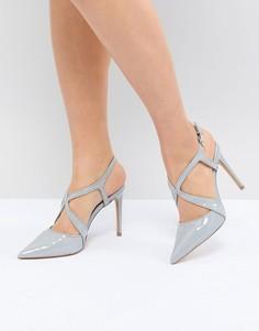 Туфли на каблуке с перекрестными ремешками и острым носком Carvela Fierce - Серый
