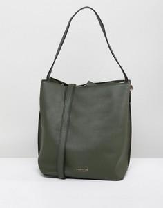 Двойная сумка через плечо Carvela Rolo - Светло-бежевый