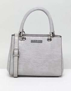 83a78f6ece15 Сумка-тоут в минималистском стиле с плетеной отделкой Carvela Selena - Серый