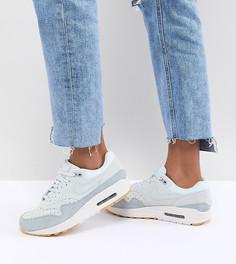 Замшевые кроссовки с перфорацией Nike Air Max 1 - Серый