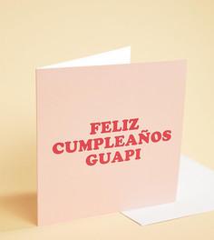 Поздравительная открытка с надписью Feliz Cumpleanos Guapi - Мульти Central 23