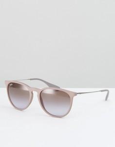 Розовые солнцезащитные очки Ray Ban Erica - Розовый
