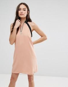 Платье с молнией Influence - Розовый