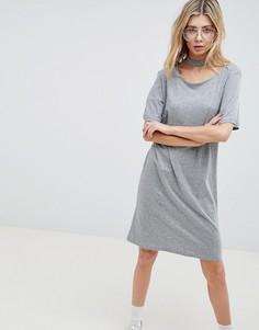 Свободное платье с отделкой на шее Cheap Monday - Серый