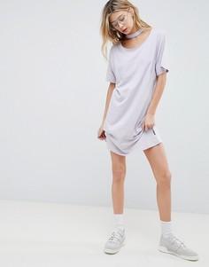 Свободное платье с отделкой на шее Cheap Monday - Фиолетовый