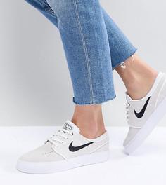 Белые замшевые кроссовки Nike Sb Zoom Janoski - Белый
