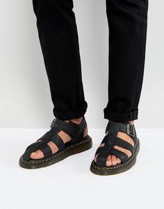 Черные сандалии Dr.Martens Galia Carpathian - Черный