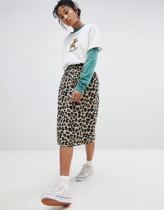 Юбка-карандаш с леопардовым принтом Stussy - Мульти