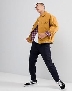 Джинсовая oversize-куртка горчичного цвета ASOS DESIGN - Желтый