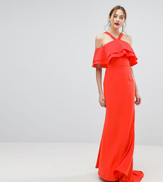 Оверсайз-платье макси с оборками Jarlo Tall - Оранжевый