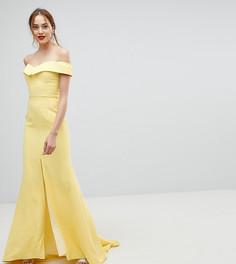 Платье макси с разрезом до бедра Jarlo Tall - Желтый