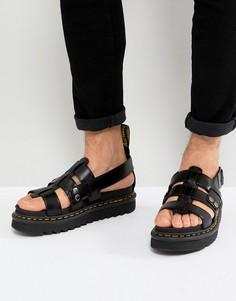 Черные сандалии с ремешками Dr Martens - Черный