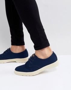 Темно-синие окрашенные туфли Dr.Martens Delray - Темно-синий