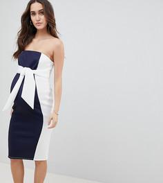 Платье-бандо миди в стиле колор блок ASOS DESIGN Maternity - Мульти