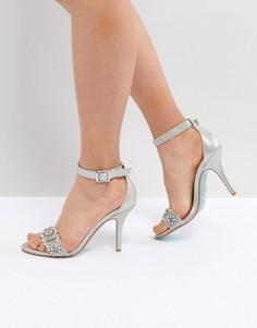 Серебристые босоножки на каблуке Blue By Betsy Johnson - Серебряный