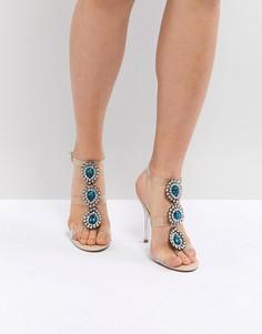 Прозрачные босоножки на каблуке с отделкой Blue By Betsey Johnson Sylvi - Розовый