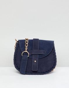 Темно-синяя сумка с плетеной отделкой Yoki Fashion - Темно-синий