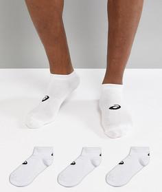 3 пары белых невидимых носков Asics Running 155206-0001 - Белый