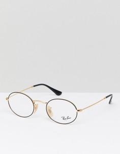 Круглые очки Ray-Ban 0RX3547V - Черный