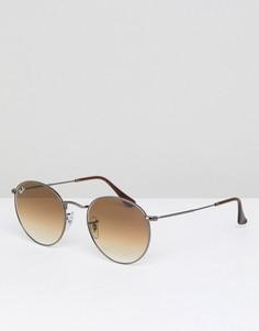 Круглые солнцезащитные очки Ray-Ban 0RB3447N - Серебряный