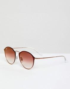 Круглые солнцезащитные очки Ray-Ban 0RB3574N - Розовый