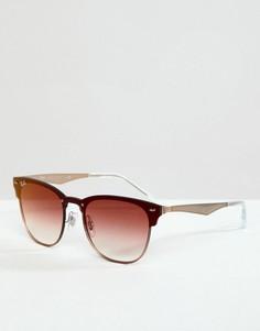 Солнцезащитные очки-клабмастеры Ray-Ban 0RB3576N - Розовый