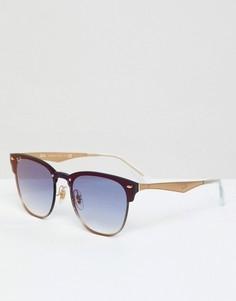 Солнцезащитные очки-клабмастеры Ray-Ban 0RB3576N - Синий