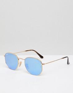 Круглые солнцезащитные очки Ray-Ban 0RB3548N - Золотой