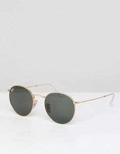 Круглые солнцезащитные очки Ray-Ban 0RB3447N - Золотой