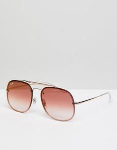 Солнцезащитные очки-авиаторы Ray-Ban 0RB3583N - Золотой