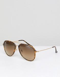 Солнцезащитные очки-авиаторы Ray-Ban 0RB4298 - Коричневый