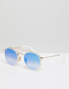 Круглые солнцезащитные очки Ray-Ban 0RB3647N - Белый