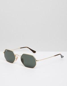 Шестигранные солнцезащитные очки Ray-Ban - Золотой