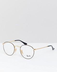 Круглые очки Ray-Ban 0RX3447V - Черный