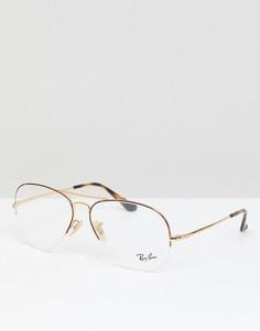 Очки-авиаторы Ray-Ban 0RX6589 - Коричневый