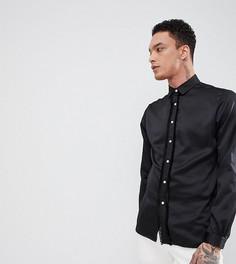 Драпированная рубашка с длинными рукавами и кисточками Heart & Dagger - Черный
