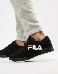 Мужские черные кроссовки с логотипом Fila Original Fitness - Черный