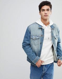Классическая джинсовая куртка с рваной отделкой Tommy Jeans - Синий