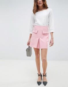 Мини-юбка с карманами спереди ASOS DESIGN - Розовый