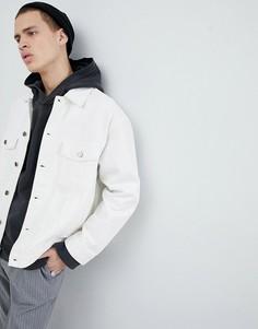 Белая джинсовая куртка Mennace - Белый