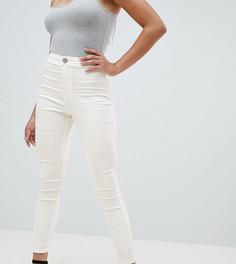 Белые джинсовые джеггинсы с завышенной талией ASOS DESIGN - Белый