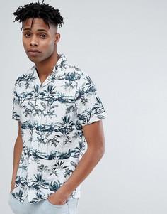 Рубашка с короткими рукавами и отложным воротником Only & Sons - Белый