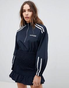 Платье в спортивном стиле с присборенной отделкой STYLENANDA - Черный