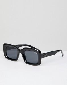 Черные квадратные солнцезащитные очки Quay Australia Going Solo - Черный
