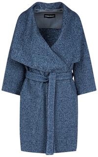 Полушерстяное пальто с широким воротником La Reine Blanche