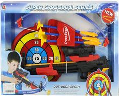 Игрушечное оружие S+S TOYS Арбалет 968 со стрелами и мишенью