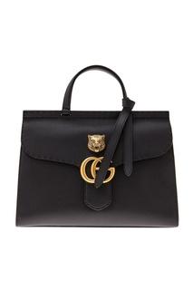 Кожаная сумка GG Marmont leather top handle bag Gucci