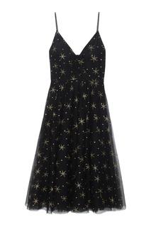 Платье с глиттерным принтом Valentino